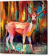 Clever Deer Canvas Print