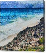 Cliff And Water Canvas Print