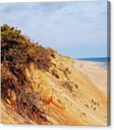 Cliff At Marconi Beach Canvas Print