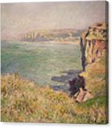 Cliff At Varengeville Canvas Print