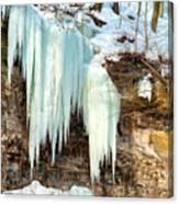 Cliff Ice Canvas Print