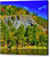 Cliff Of Color Canvas Print