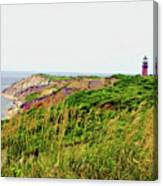 Cliff Off The Shores Of Martha Vineyard Canvas Print