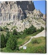 Cliff Shelf Trail In Badlands National Park South Dakota Canvas Print