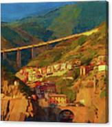 Cliff Village Canvas Print