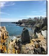 Cliff Walk View Canvas Print