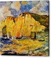 Cliffs 1883 Canvas Print