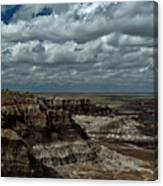 Cliffs And Clouds Canvas Print