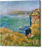 Cliffs Near Pourville Canvas Print