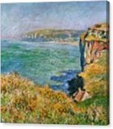 Cliffs Near Pourville Canvas Print