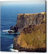 Cliffs Of Moher Ireland View Of Aill Na Searrach Canvas Print