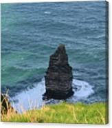 Cliff's Of Moher Needle Rock Formation In Ireland Canvas Print