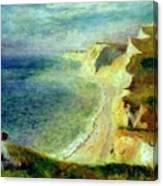 Cliffs On The Coast Near Pourville 1879 Canvas Print