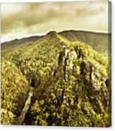 Cliffs, Steams And Valleys Canvas Print