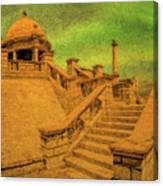 Clifton Monument At Jehangir Kothari Parade Canvas Print
