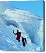Climbers On Mont Blanc Canvas Print
