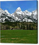 Climbers Ranch In Spring Canvas Print