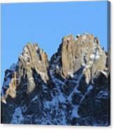 Climbers Sunlit Challenge Canvas Print