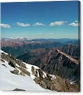 Climbing Greys Peak Canvas Print