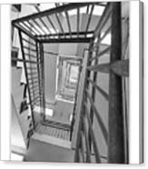 Climbing Stairs Canvas Print