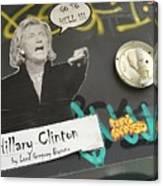 Clinton Message To Donald Trump Canvas Print