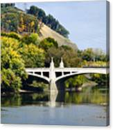 Clinton St. Bridge Prospect Mountain Binghamton Ny Canvas Print
