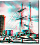 Clipper City - Use Red-cyan 3d Glasses Canvas Print