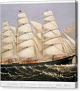 Clipper Ship, 1875 Canvas Print