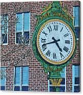 Clock At Port Warwick Canvas Print