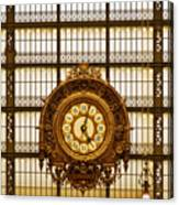 Clock Dorsay Museum Canvas Print
