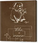 Clock For Keeping Animal Time Patent Drawing 1c Canvas Print