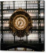 Clock Musee D'orsay Canvas Print