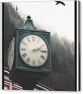 Clock Raven Canvas Print