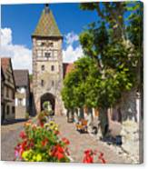Half-timbered Houses, Alsace, France  Canvas Print