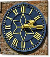Clock With Gold Hands. Canvas Print