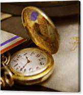 Clockmaker - Time Never Waits  Canvas Print