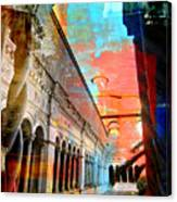 Cloister In Rome Canvas Print