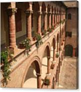 Cloistered Courtyard Canvas Print