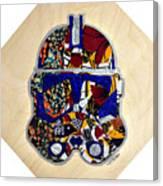 Clone Trooper Star Wars Afrofuturist Canvas Print