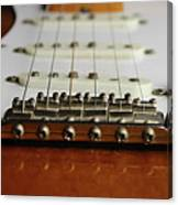 Close Up Electric Guitar Canvas Print