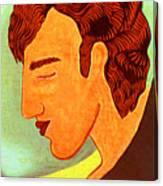 Close Up Man Sleepng Canvas Print