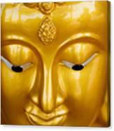 Close-up Of A Golden Buddha Canvas Print
