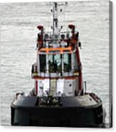 Close Up Of A Tugboat In Venice Harbor Canvas Print