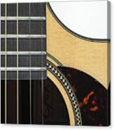 Close-up Of Steel-string Guitar Canvas Print