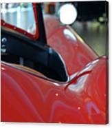 Close Up On Red Sport Car Canvas Print