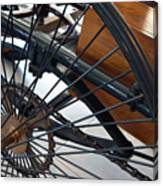 Close Up On Vintage Wheel Of Bicycle  Canvas Print
