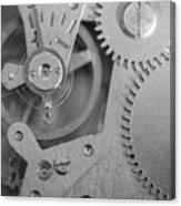 Closeup Macro Of Clock Mechanism Canvas Print