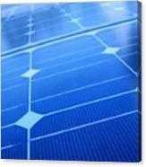 Closeup Of Solar Panels Canvas Print