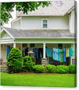 Clothes On The Front Porch Canvas Print