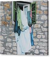 Clotheslines In Dobrovnik Canvas Print